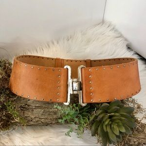 Accessories - Vintage WCM New York leather and stud belt.